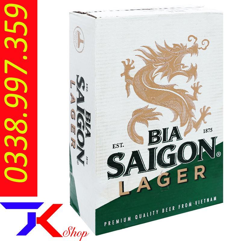 Thùng Bia Sài Gòn 24 Lon Lager 330ml Giá Cực Ngầu