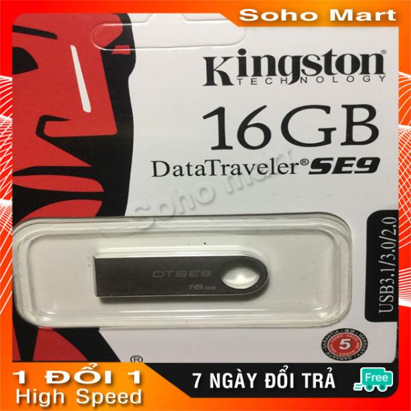 Bảng giá USB Kingston 3.0 DataTraveler SE9 16GB, Nhôm nguyên khối siêu bền soho mart Phong Vũ