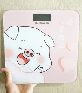 Cân điện tử sức khỏe heo hồng - BORO thumbnail