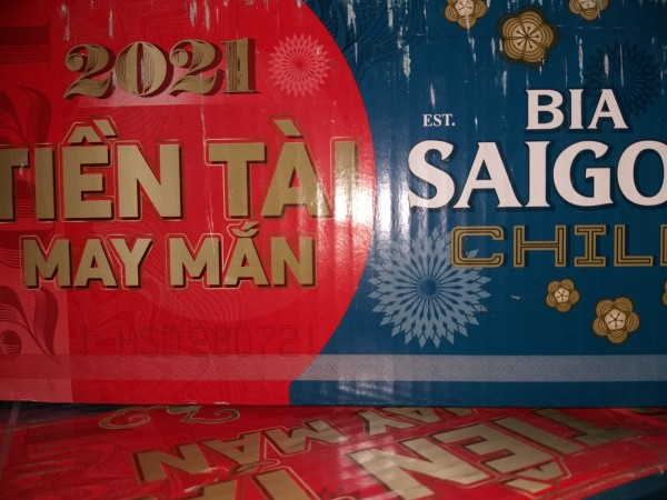 Bia Sài Gòn CHILL thùng 24 lon cao