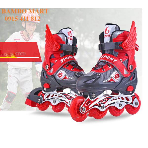 Giá bán Giầy trượt patin Abec 7 đèn trước đủ bộ bảo vệ