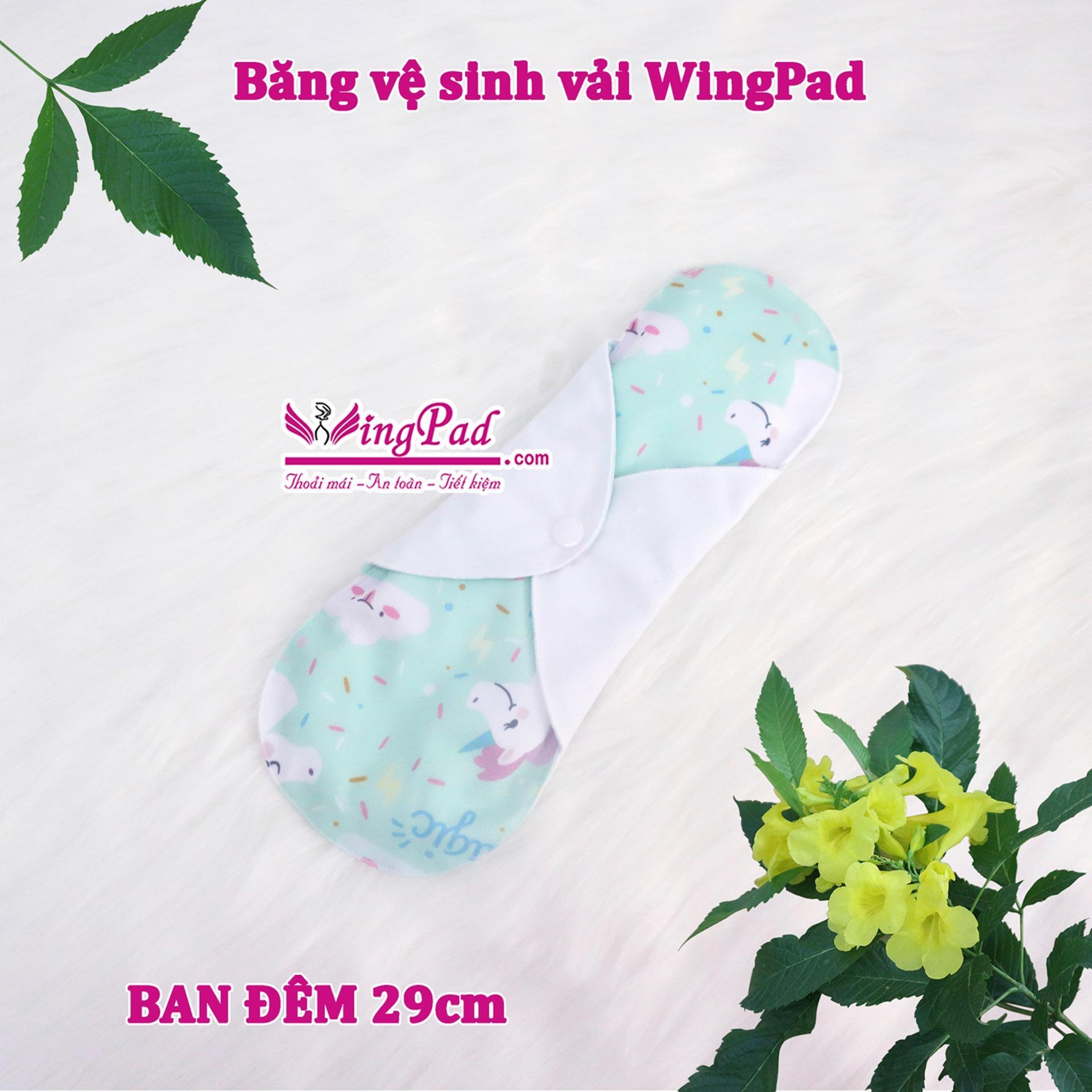 Băng vệ sinh vải WingPad ban Đêm 29cm (màu ngẫu nhiên)