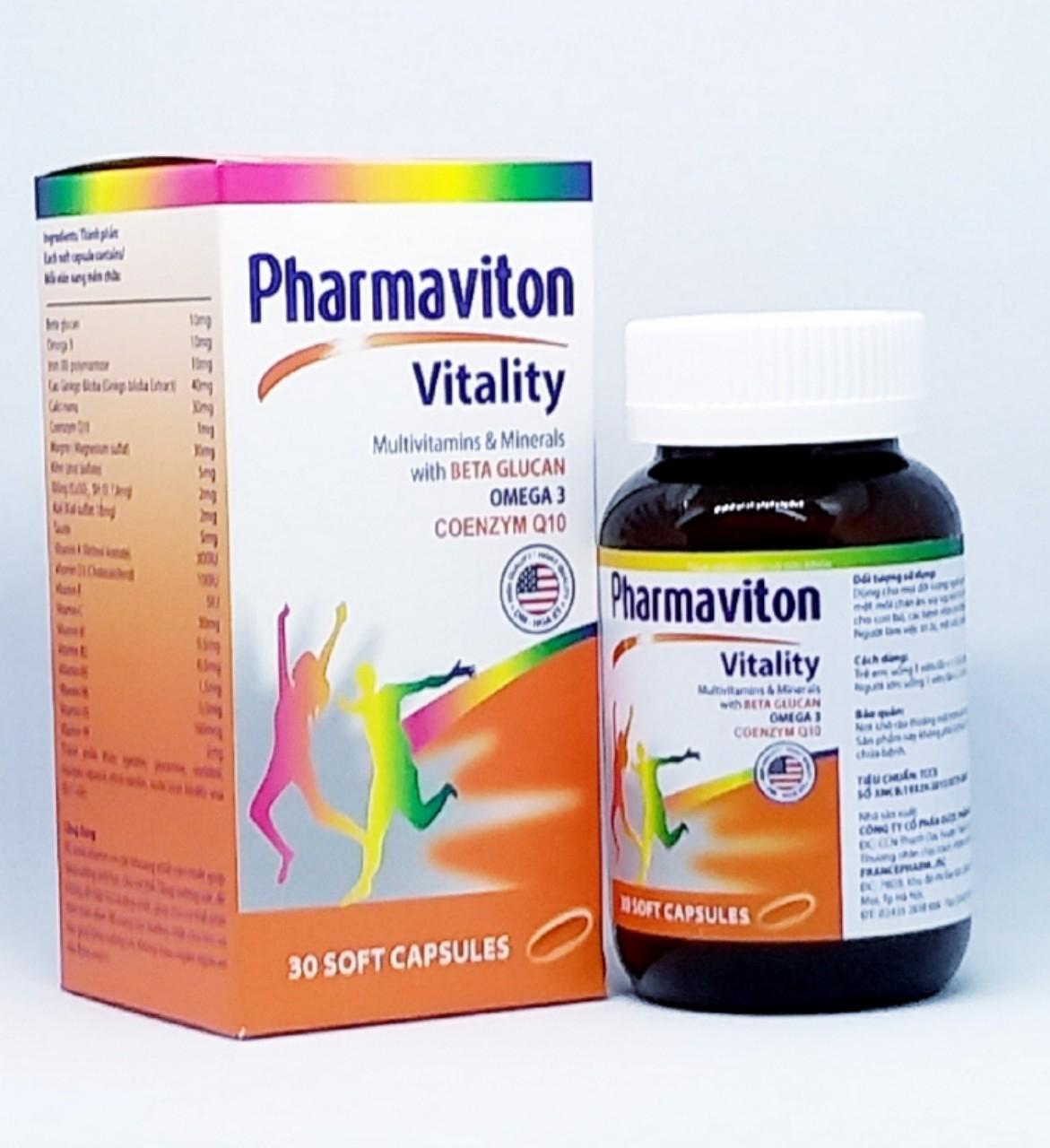 Viên uống Vitamin bổ khỏe Pharmaviton hộp 30v