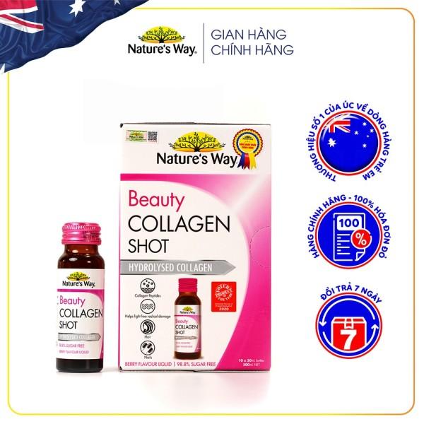 Collagen Thuỷ Phân Dạng Nước Nature's Way Beauty Collagen Shot Giúp Giảm Vết Nhăn, Chống Chảy Xệ Cao Cấp cao cấp