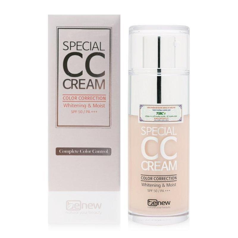 Kem lót nền trang điểm CC Benew Special CC Cream SPF50 PA+++ 30ml + Quà tặng sữa rửa mặt Ốc Sên Benew 100ml
