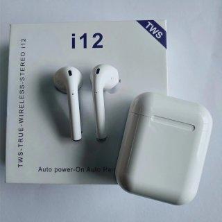 Tai nghe bluetooth i12 TWS phiên bản nâng cấp tai nghe âm thanh 8D, tai nghe i12 s nút điều khiển cảm ứng, mở nắp tự kết nối, tương thích với mọi hệ điều hành 4