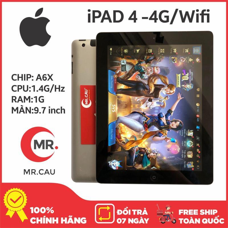 Máy tính bảng Apple IPAD 4 - 16GB - BẢN 4G/WIFI,  TẶNG 1 BAO DA - CẤU HÌNH KHỦNG DÀNH CHO GAME THỦ, BẢO HÀNH 6 THÁNG - MR CAU