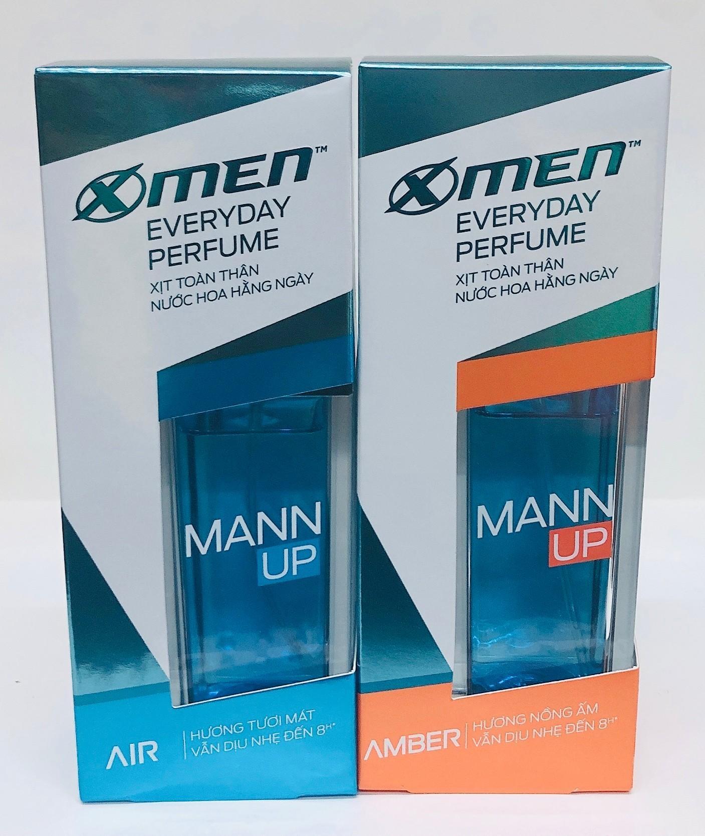 Xịt nước hoa toàn thân X-Men Everyday Perfume Mann Up Amber/Air 50ml cao cấp