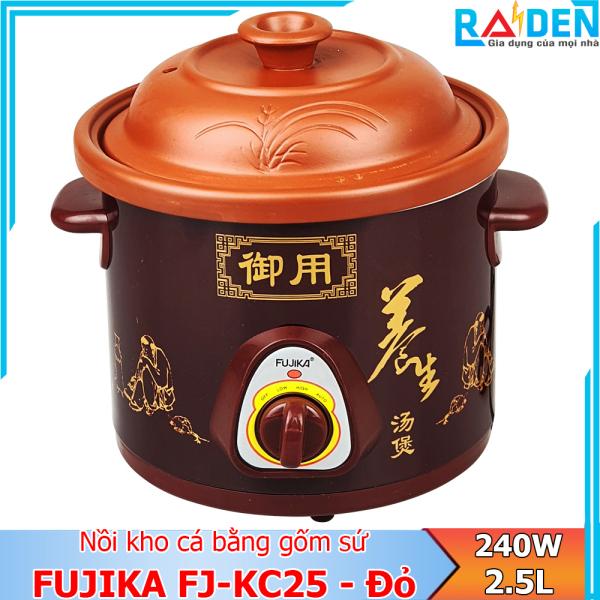 Nồi nấu chậm Fujika FJ-KC25 dung tích 2.5L, lòng nồi bằng gốm sứ an toàn sức khỏe