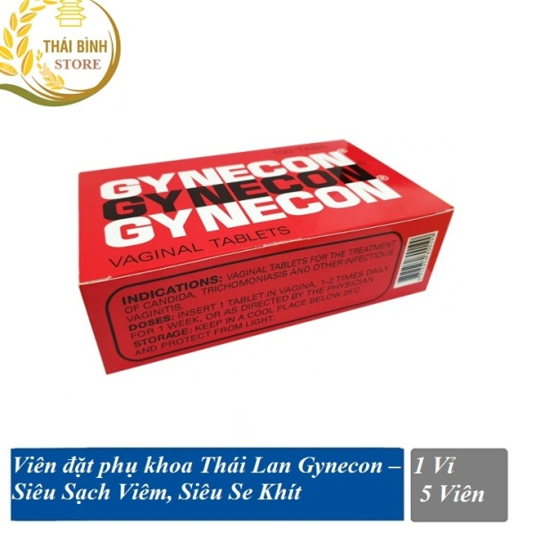 Viên diệt khuẩn Gynecon Thái Lan cho phụ nữ (vỉ 5 viên) giá rẻ