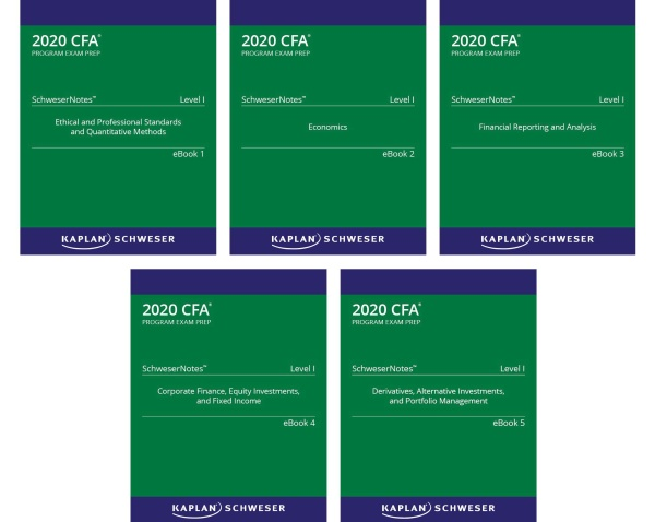 Mua CFA 2020 KAPLAN SCHWESERNOTES 5 QUYỂN LEVEL1 ( Sách gia công) - Hanoi bookstore