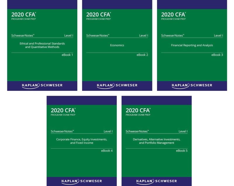 CFA 2020 KAPLAN SCHWESERNOTES 5 QUYỂN LEVEL1 ( Sách gia công) - Hanoi bookstore