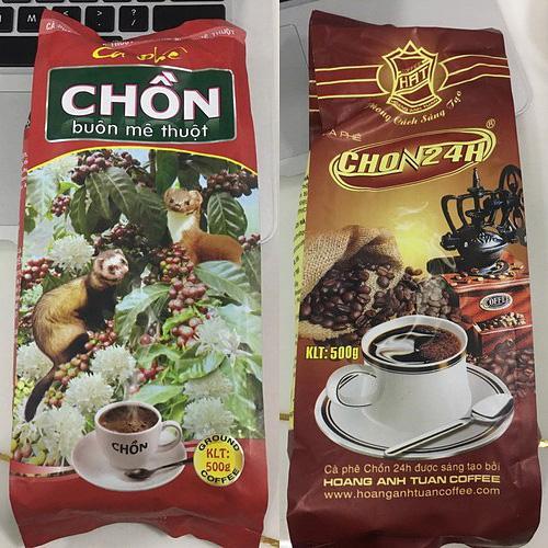 Combo 2 bịch Cà phê pha Phin truyền thống Chồn 24h thượng hạng 1000gr 2 bịch Nhật Bản