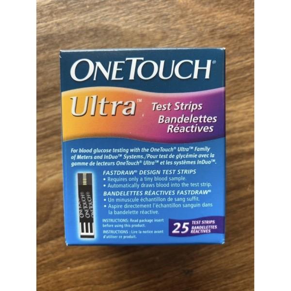 Hộp 25 que thử đường huyết OneTouch Ultra cao cấp