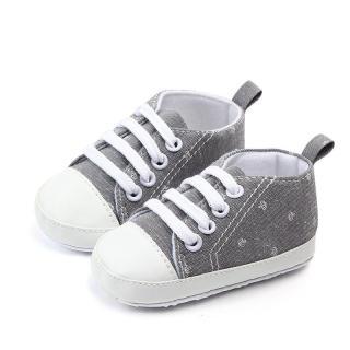 Giày Em Bé In Hình Vương Miện Dễ Thương, Giày Bé Trai Bé Gái Sơ Sinh Cotton Mềm Mại Thường Ngày Giày Tập Đi Cho Trẻ Tập Đi Mùa Thu Mùa Hè Chống Trượt