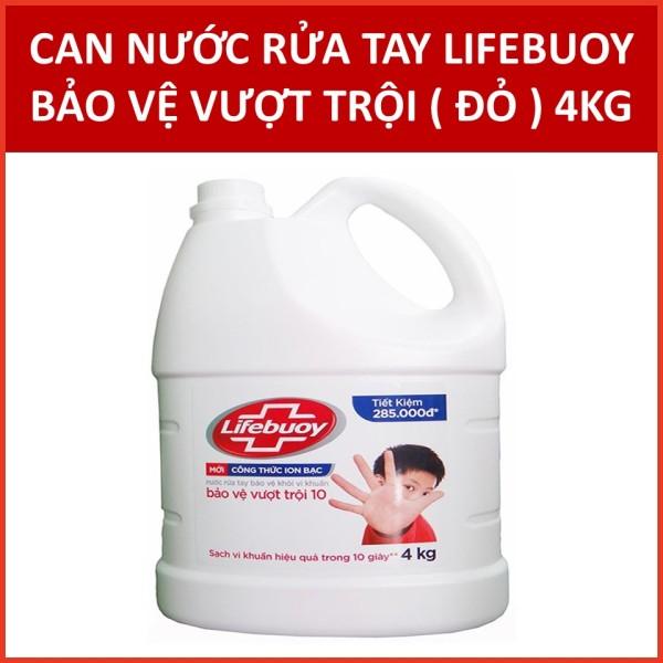 Nước rửa tay Lifebuoy Chuyên dụng Bảo vệ vượt trội 10 (Đỏ) 4KG (có xuất hóa đơn điện tử) cao cấp