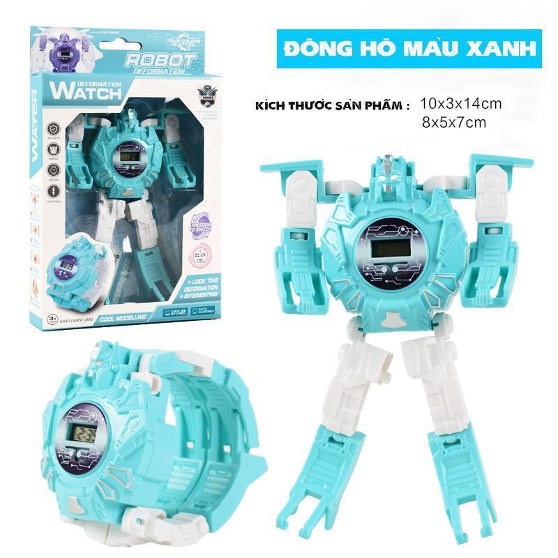 Nơi bán Đồng hồ, Đồng Hồ Điện Tử Dành Cho Trẻ Em Biến Hình Robot 2 Trong 1