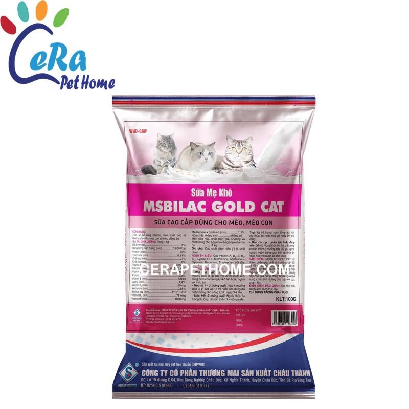 Sữa Mẹ Khô Cho Mèo - Msbilac Gold Cat 100gr