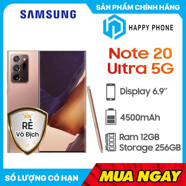 Điện thoại Samsung Galaxy Note 20 Ultra 5G (256GB/12GB) - Hàng chính hãng, mới 100%, nguyên seal, bảo hành 12 tháng