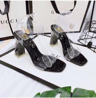 Giày sandal cao gót đế bọc thumbnail
