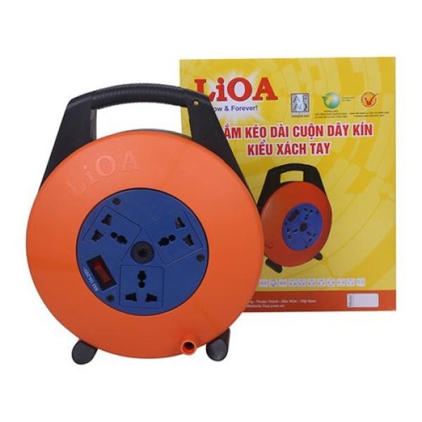 Ổ cắm xách tay LiOA XTD10-2-10A dây 10m x 2 10A (Cam) - Lioa XTD10-2-10A