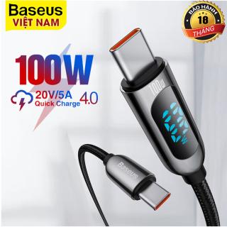 Bộ Sạc Baseus PD 100W USB Loại C Màn Hình LED Hiển Thị Sạc Nhanh Cho Huawei Samsung Xiaomi 11 Cho Máy Tính Xách Tay thumbnail
