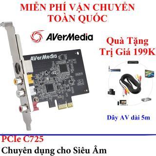 Quà Tặng Trị Giá 199K - Card ghi hình AV, S-video chuẩn PCI-E AverMedia C725 - Avermedia EZMaker SDK Express (C725) - Card ghi hinh siêu âm cổng Capture PCI Express AVerMedia C725 thumbnail