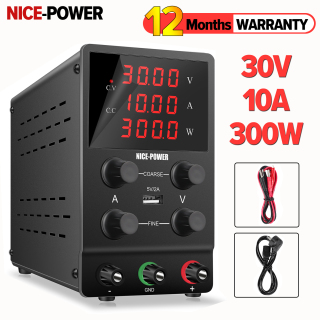 NICE-POWER 30V 10A Adjustable LED Digital Display DC Power Supply Switching Lab Power Supply with 5V 2A USB Port and W(Display) thumbnail