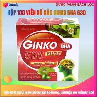 VIên uống bổ não Ginko DHA 630 pluss - France Group - Giúp tăng cường lưu thông máu não, hỗ trợ giảm di chứng sau tai biến mạch máu não- Hộp 100 viên thumbnail