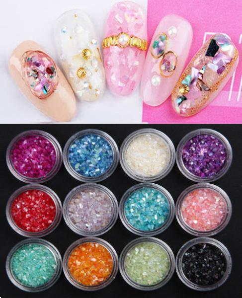 Sét Nhũ kim xa 12 hộp chăm sóc trang trí móng làm nail theo phong cách hàn quốc nailart giá rẻ