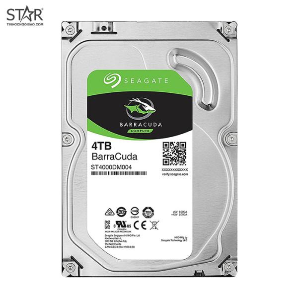 Bảng giá [HCM]Ổ cứng HDD Seagate 4TB Barracuda (ST4000DM004) (12T) Phong Vũ