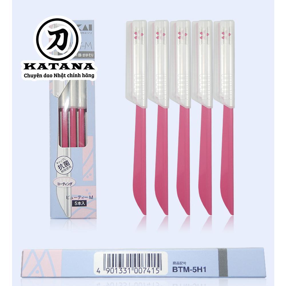 Dao cạo nữ cao cấp Nhật Disposable BTM-5H1 bộ 5 chiếc (màu hồng) tốt nhất