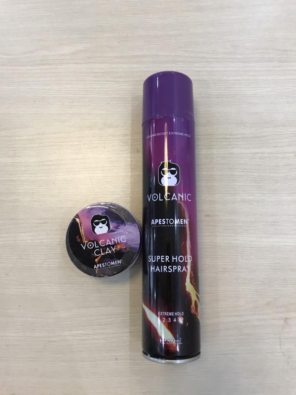 Combo Sáp vuốt tóc Volcanic Clay Apestomen - Gôm Volcanic, tạo kiểu-giữ nết-tạo phồng tốt, gôm xịt,gôm giữ nếp tóc tốt giá rẻ
