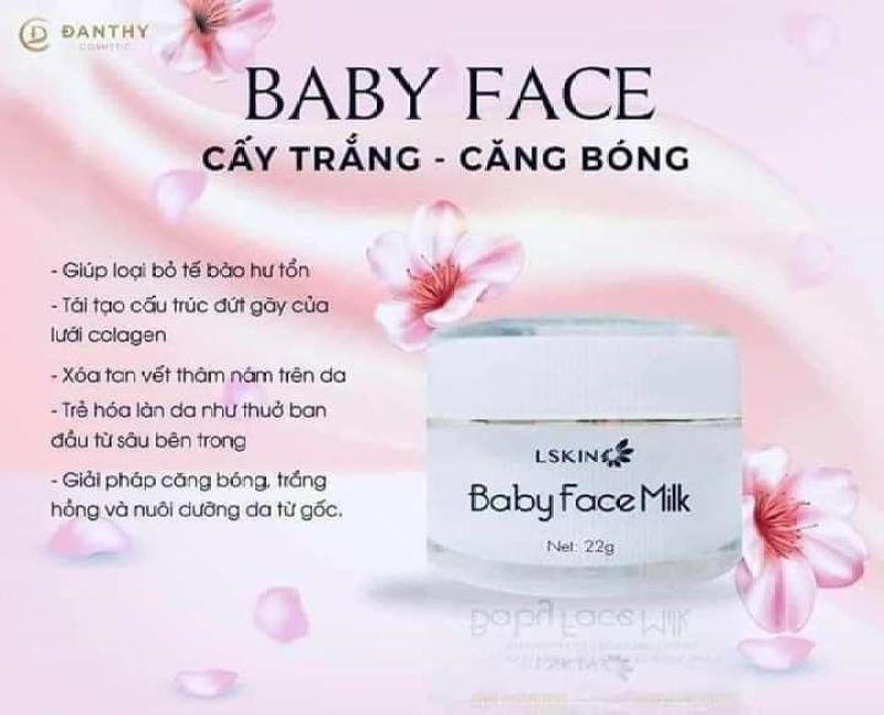Kem sữa baby face milk nhập khẩu