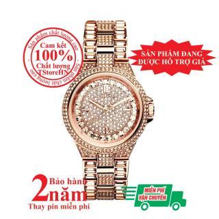 Đồng hồ nữ Michael Kors Camile MK5948 - Vỏ, mặt và dây màu Vàng hồng (Rose Gold), mặt đồng hồ và viền nạm đá pha lê Swarovski, size 33mm thumbnail