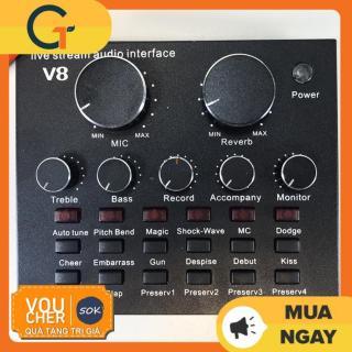 [Nhập ELJAN11 giảm 10%, tối đa 200k, đơn từ 99k]Sound card V8 có Auto Tone dành cho micro thu âm thumbnail