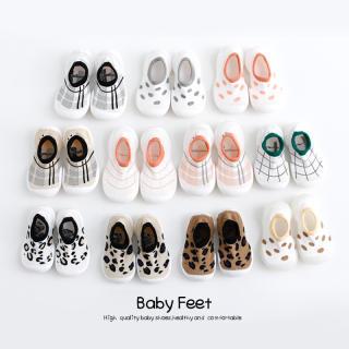 Flower Bnot Giày Em Bé Căn Hộ Bông Mềm Chống Trượt Sơ Sinh Đi Bộ Nghiêng Phẳng Todder Bé Giày Con Gái Tập Đi