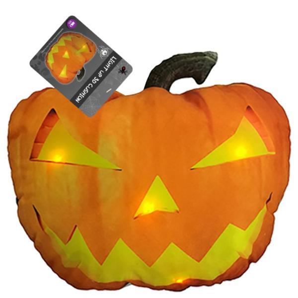 Gối 3D Bí ngô phát sáng trang trí Halloween  UBL UH01372