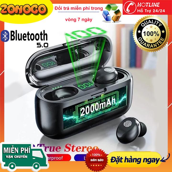 Tai Nghe Bluetooth Amoi F9 Pro-Tai Nghe Phiên Bản Cảm Ứng Chống Nước Tương Thích Với Mọi Hệ Điều Hành Tai Nghe Bluetooth 5.0 F9 Pro kháng Nước Chống ồn có Micro Tự Động Kết Nối 8D F96