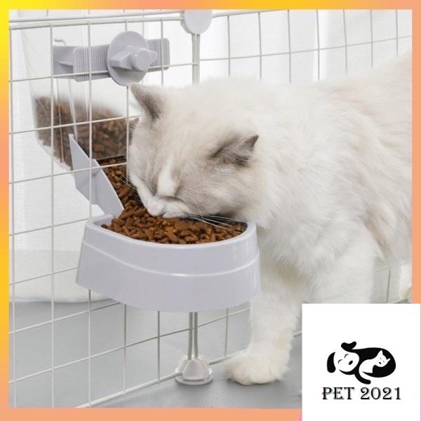 Khay Đựng Thức Ăn Treo Chuồng Dành Cho Chó Mèo ,Thú Cưng Tự Động,Tiện Lợi - Bát Đựng Thức Ăn Cho Chó Mèo - PET 2021