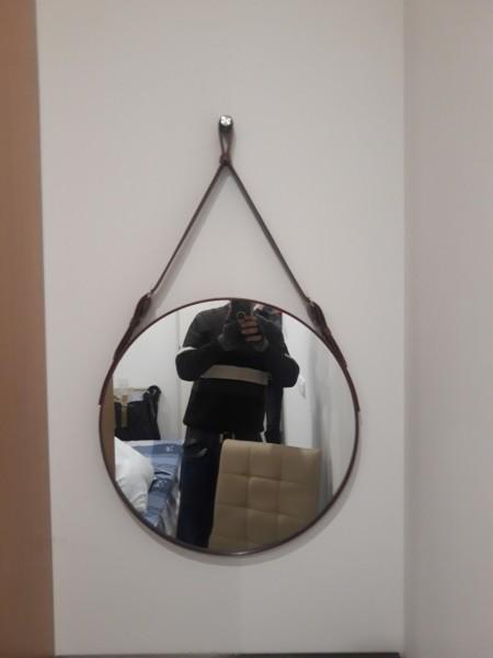 Gương Tròn Treo Tường Dây Da  D40 - Đường kính 40cm giá rẻ