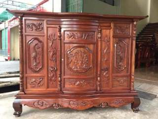 ( đồ thờ ) Tủ Thờ Mẫu Tam Đa gỗ gụ loại đẹp thumbnail