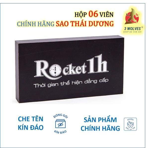 Rocket 1h tăng cường sinh lý nam chính hãng Sao Thái Dương - Hộp 06 viên