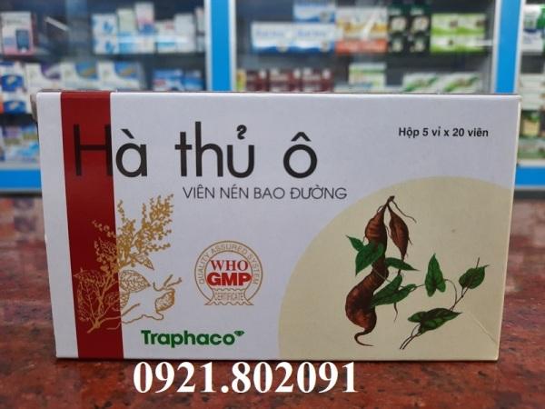 Hà thủ ô TRAPHACO hộp 100v bao đường giúp đen tóc giá rẻ