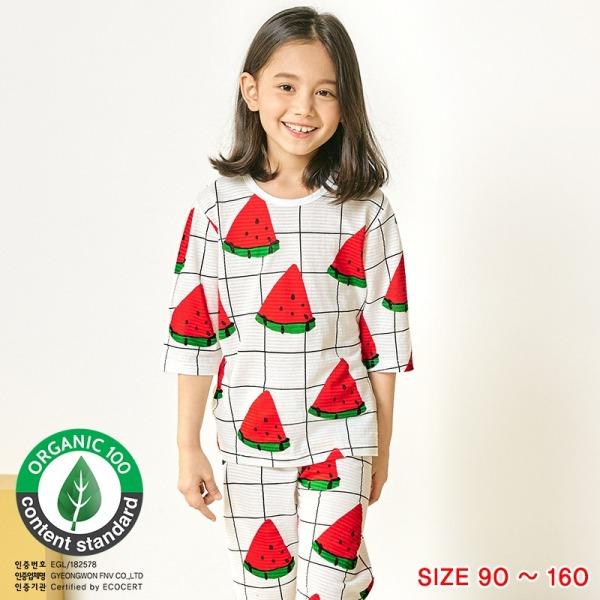 Đồ bộ lửng tay mặc nhà cotton giấy cho bé gái U2018 - Unifriend Hàn Quốc, Cotton Organic