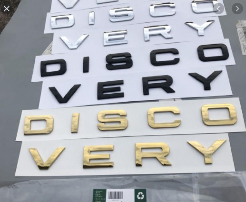 Bộ tem chữ nổi 3D DISCOVERY trang trí xe hơi ô tô
