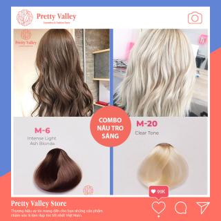 Combo thuốc nhuộm tóc màu nâu tro sáng Molokai M6 (1 màu tẩy và 1 màu nâu tro sáng) - Pretty Valley thumbnail