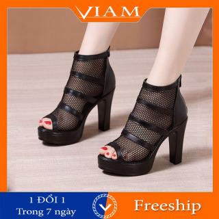 [FREESHIP] Giày Boot Nữ Lưới Thoáng Khí Đẹp Thời Trang Mới Nhất 2021 VIAM R44 thumbnail
