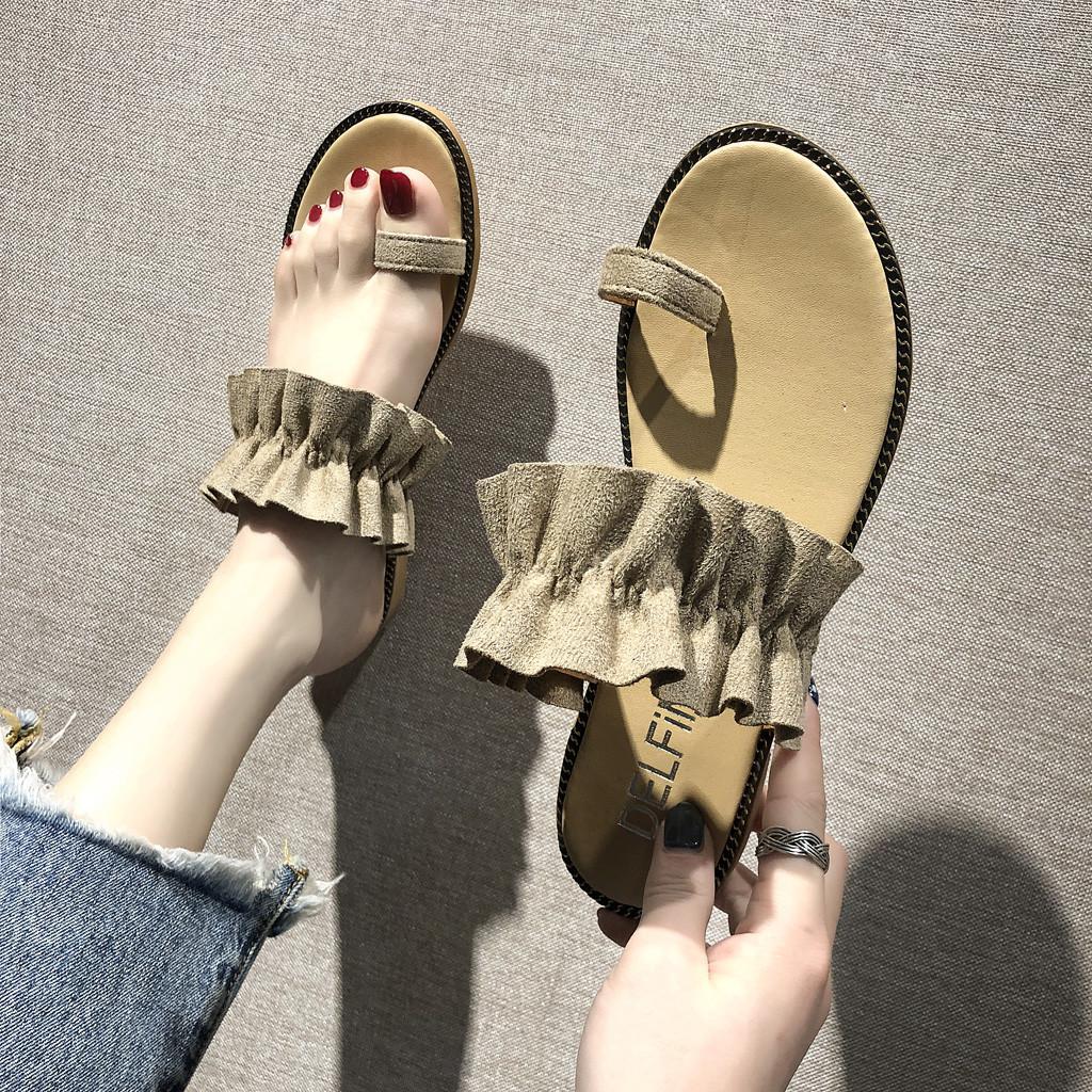 Leisure Women's Slippers Light Weight Open-Toed Flats Roman Sandals Beach Shoes