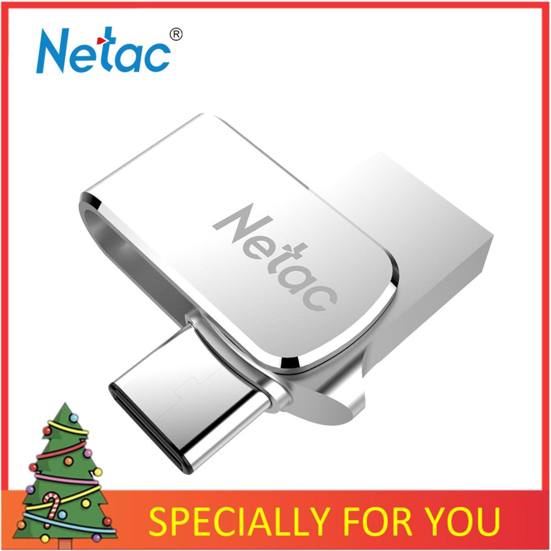 Giá Netac U780C 32G/64G USB3.0 Loại-C Giao Diện Kép Cho Android OTG Bộ Nhớ Lưu Trữ Tốc Độ Cao thẻ Nhớ